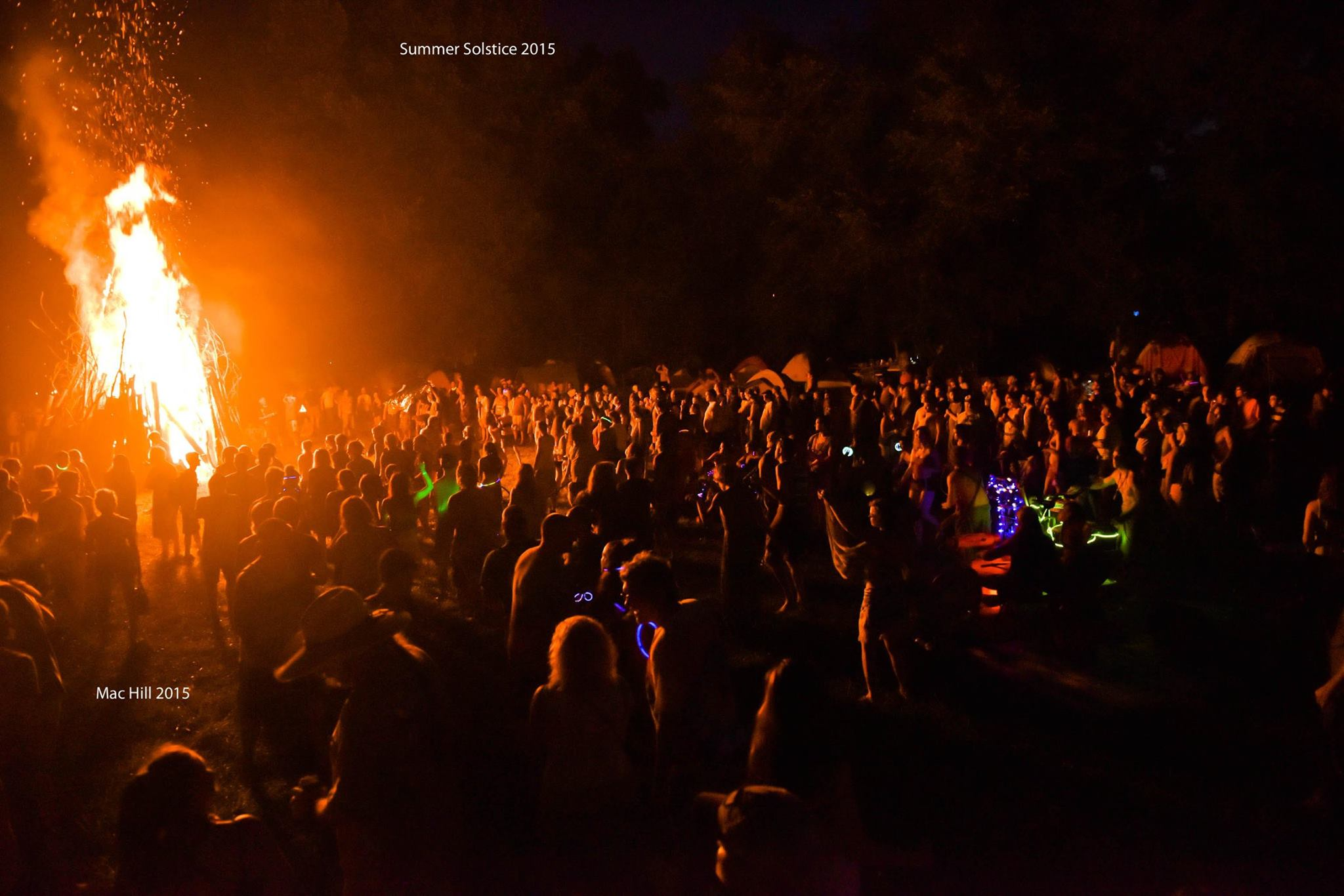 fire, music festival, crowd, trippy
