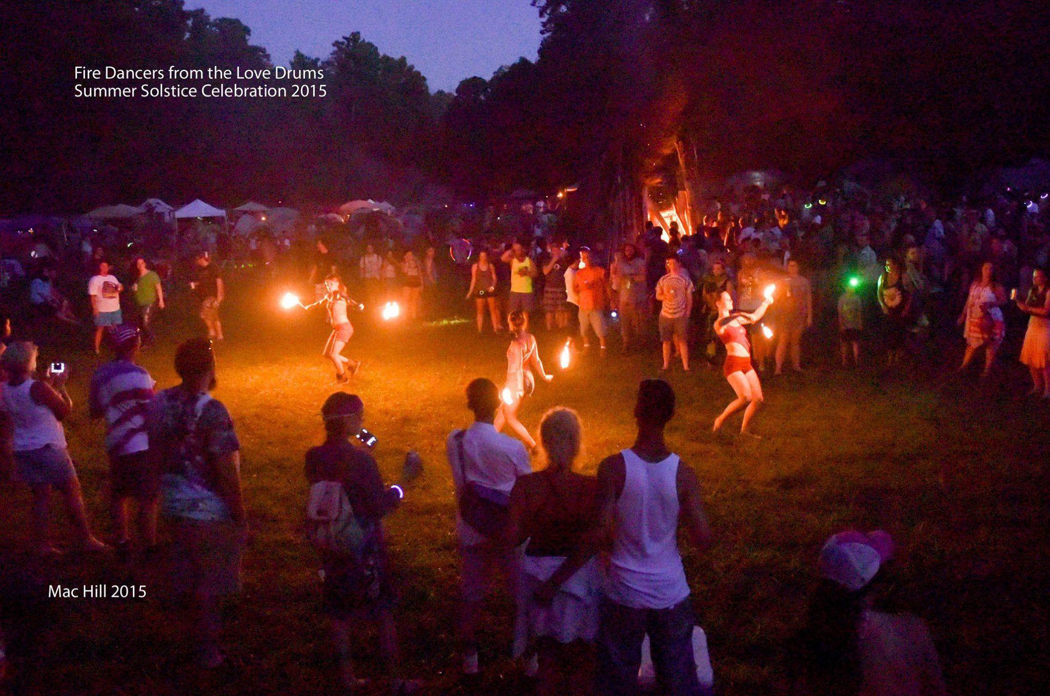 fire dancers crowd music festival tn