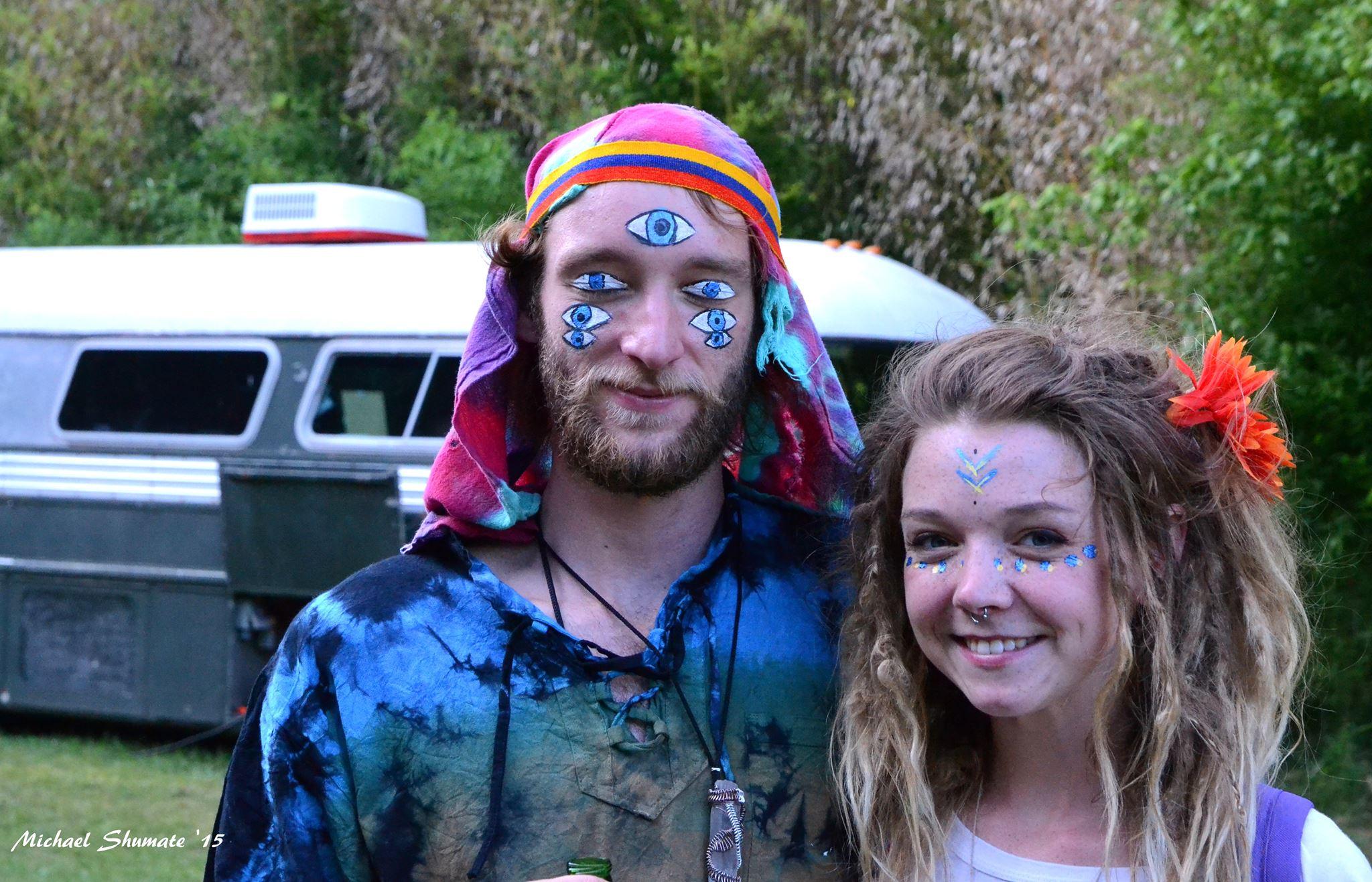 crazy, painted, blue, eyes, hippie, trippy