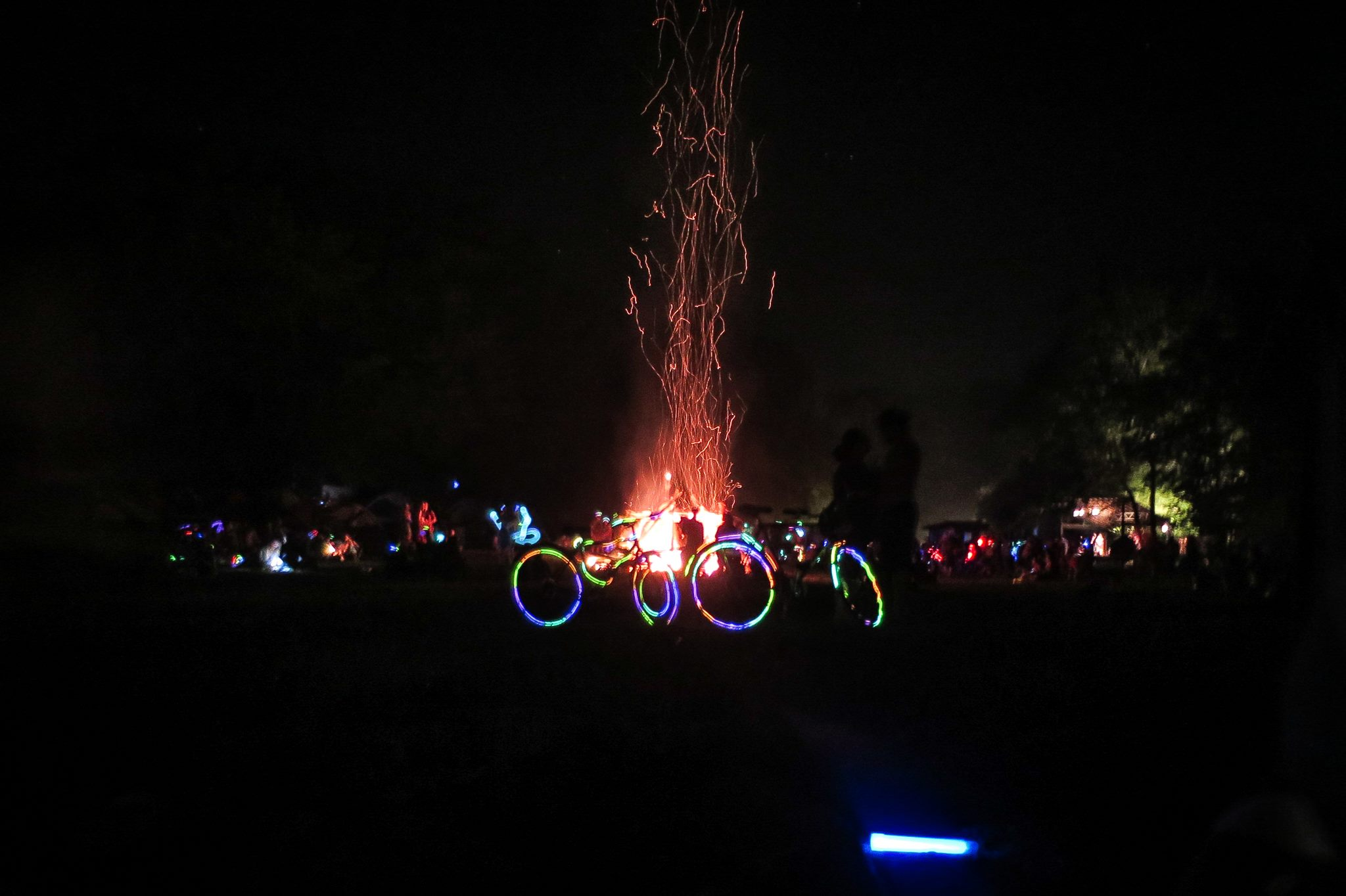 ss 2015 fire bikes night glow sticks, trippy