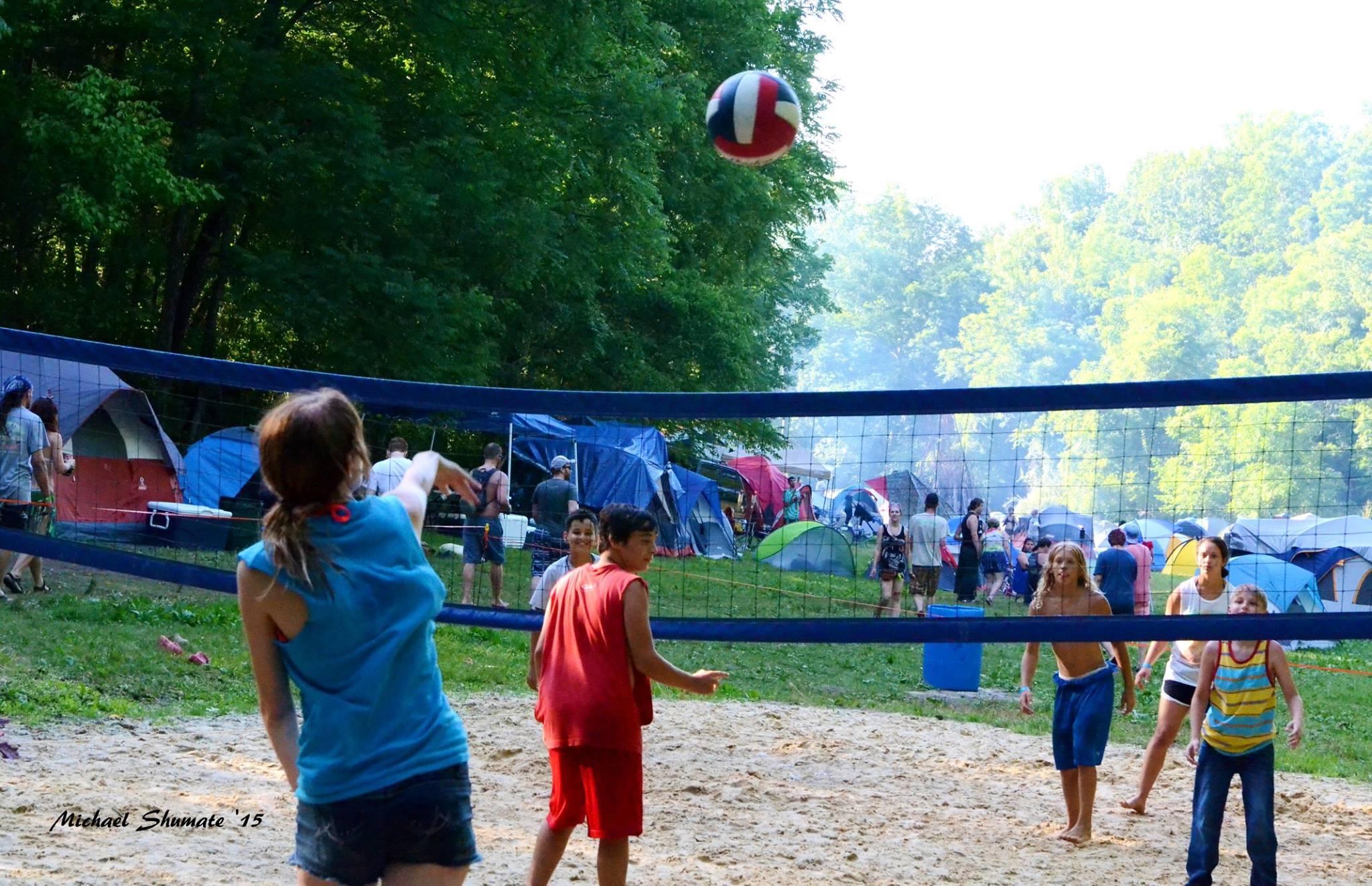 volleyball, children, kids, music festival