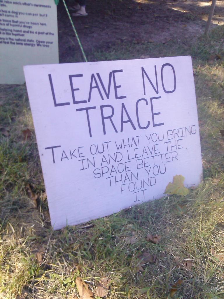 leave no trace by hailey faith fe 2015