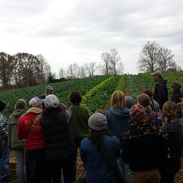 jeff poppen gives farm tour and lecture before kimchi workshop