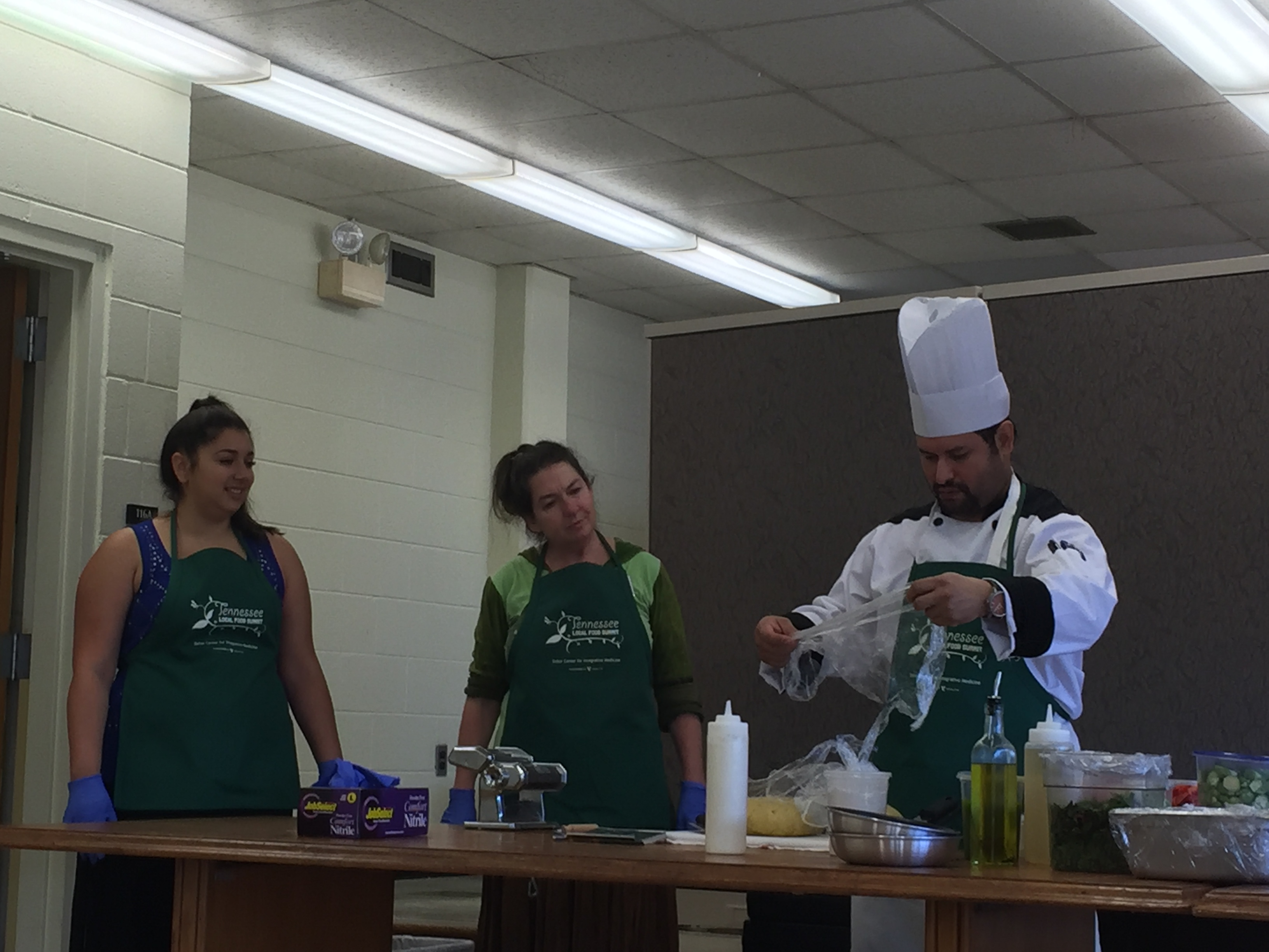 chef demonstration by alexandra gellis