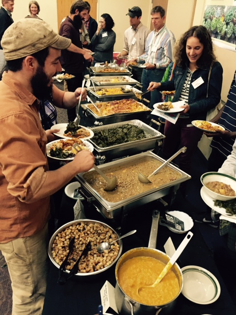 conference food organic buffet people audience tn local food summit