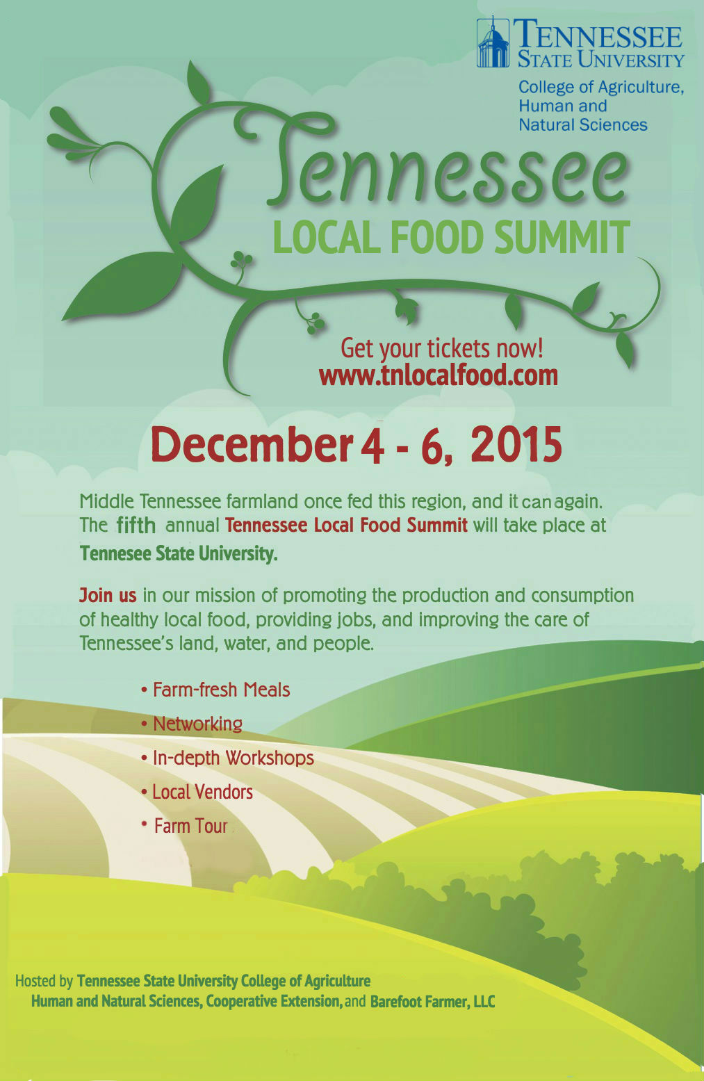 conference flyer tn local food summit