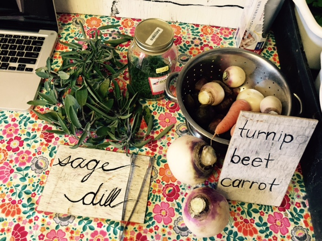 sage dill turnip beet carrot organic apple conference local food tennessee
